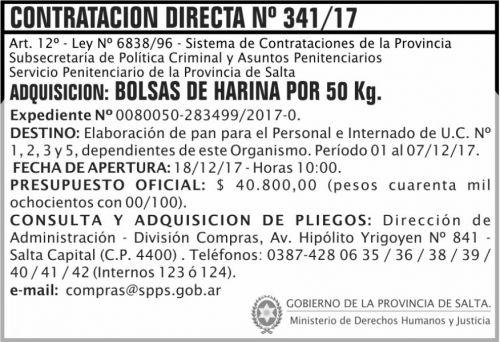 Concurso de Precios: Contratacion Directa 341 SPPS MDHJ