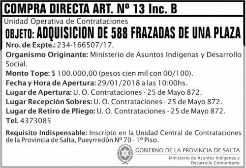 Licitación: Compra Directa N° 13  2x5