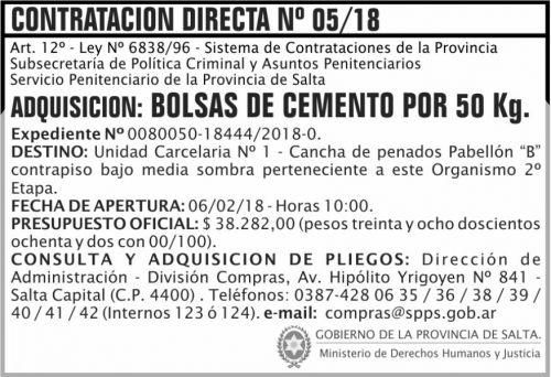Compra Directa: Contratacion Directa 05