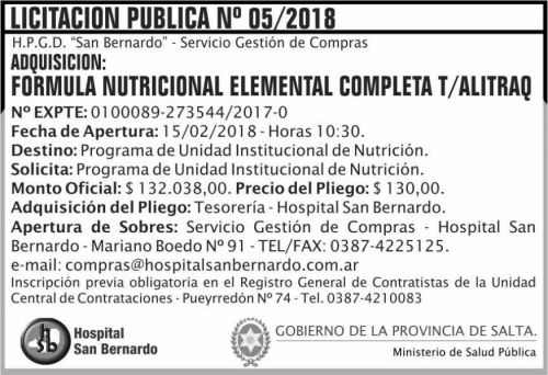 Licitación: Licitacion Publica 05