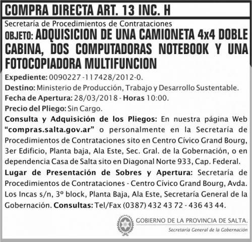Compra Directa: Compra Directa aqrt 13 MPTDS