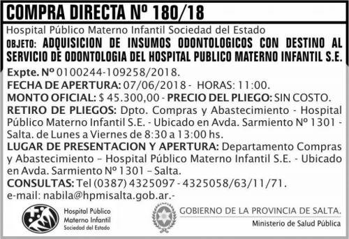 Compra Directa: Compra Directa 180 MSP HPMI