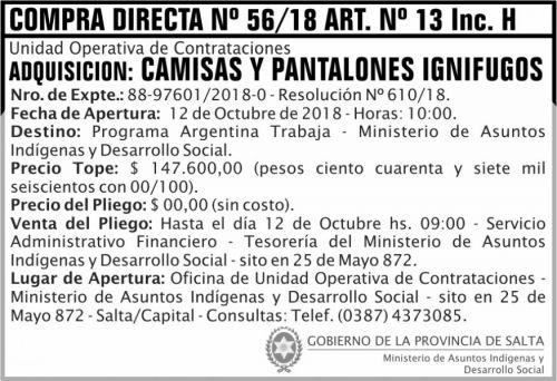 Compra Directa: Licitacion Publica 04 MAIDS 2x5 ND