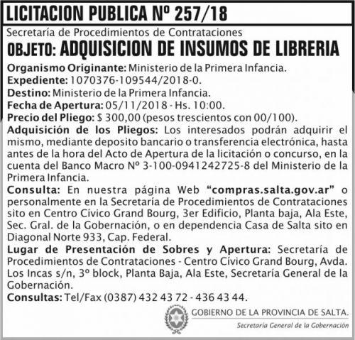 Licitación: Licitacion Publica 257 SGG MPI 2x7 ND.jpg