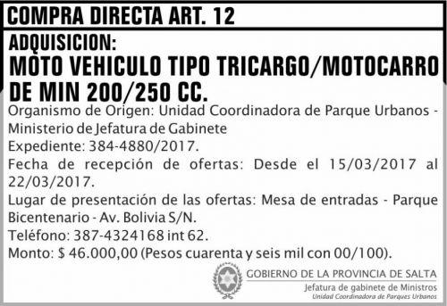 Compra Directa: COMPRA DIRECTA ART 12