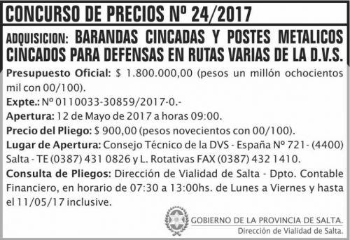 Concurso de Precios: Concurso de Precios 24/2017 DVS