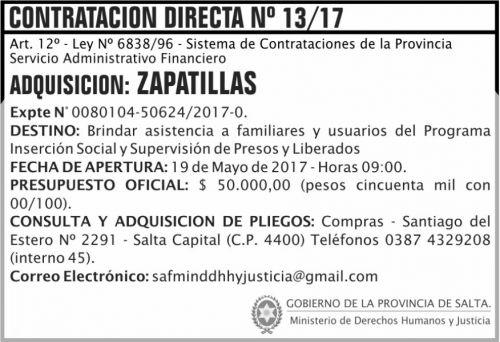 Compra Directa: Contratacion Directa 13 MDHJ