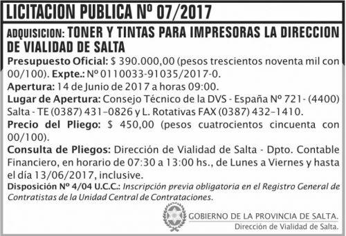 Licitación: Licitacion Publica 07 DVS