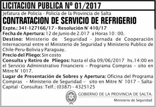 Licitación: Licitacion Publica 01 MS