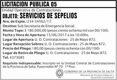Licitación: Licitacion Publica 05 MAIDC