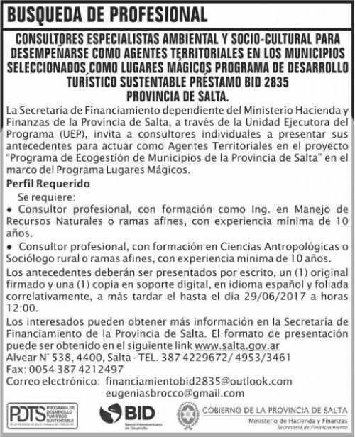 Concurso de Precios: Busqueda Profesional LUGARES MAGICOS MHF SF
