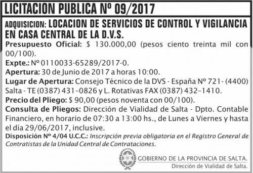 Licitación: Licitacion Publica 09 DVS