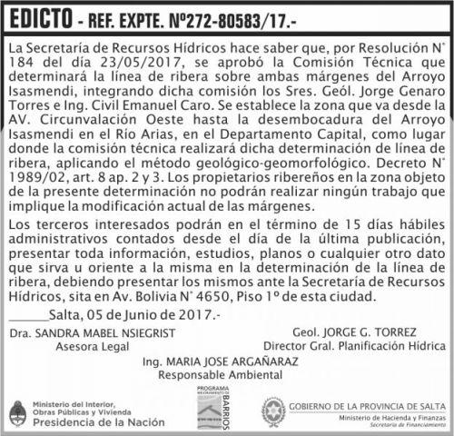 Edictos / Comunicados: EDICTO Promeba Rivera Arroyo Isasmendi MHF