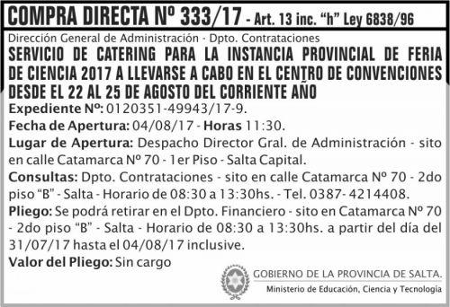 Compra Directa: Compra Directa  333 MECT