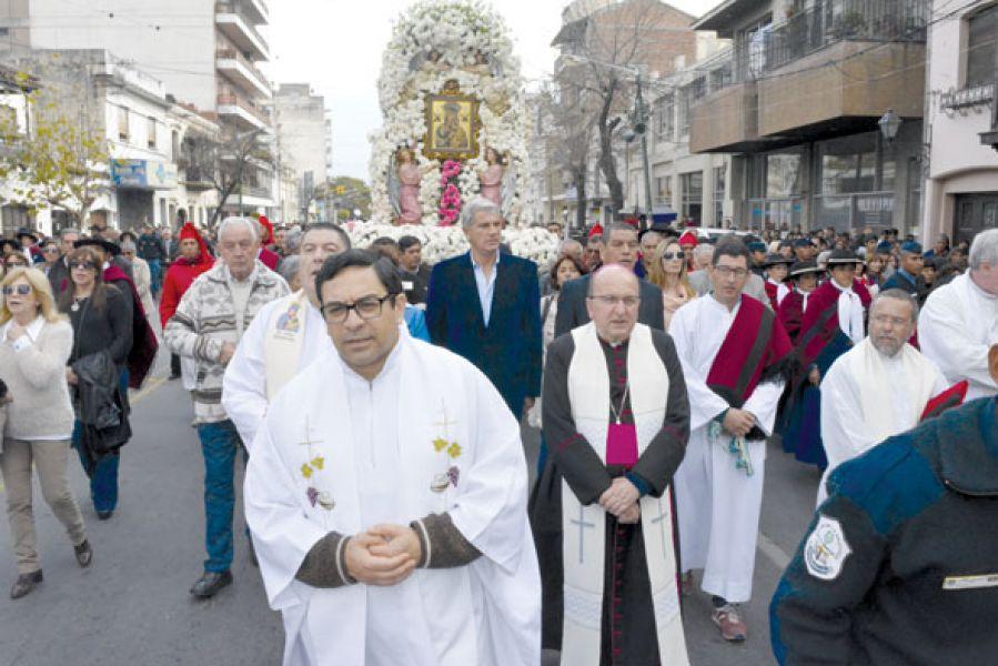 Los actos centrales estuvieron encabezados por monseñor  Antonio Cargnello