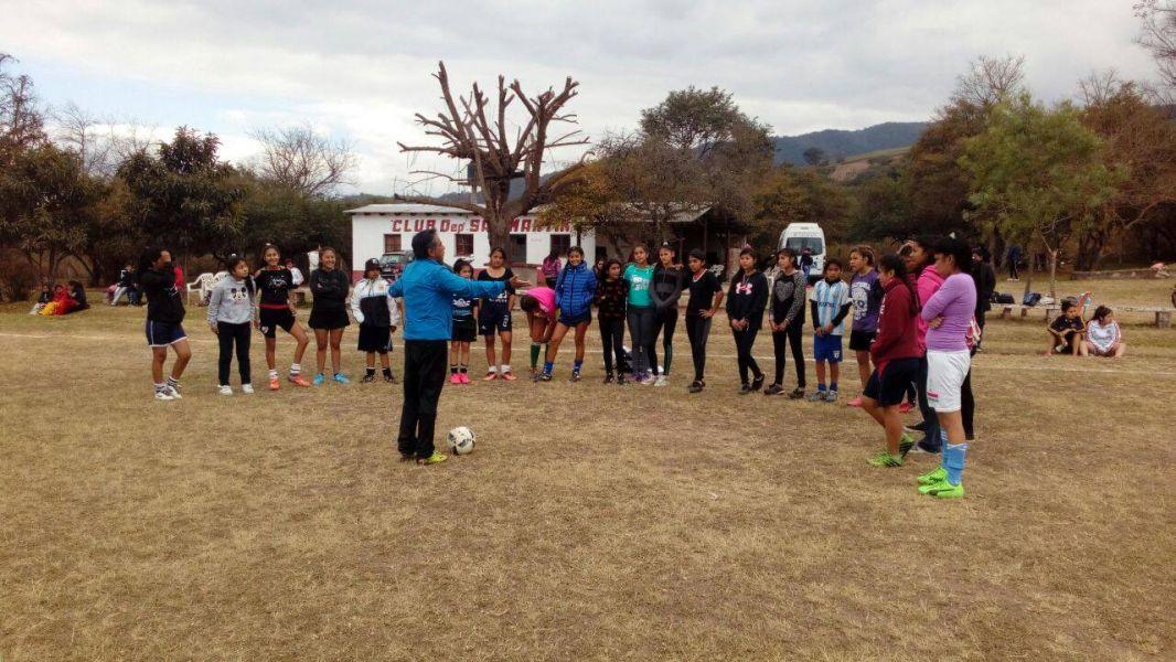 Entrenamiento en el selectivo de San Lorenzo de fútbol femenino
