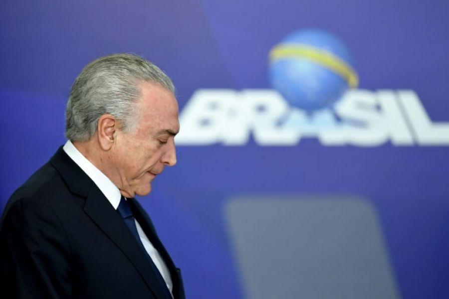 El mandatario conservador brasileño Temer ostenta el récord de impopularidad desde el retorno de la democracia en 1985.