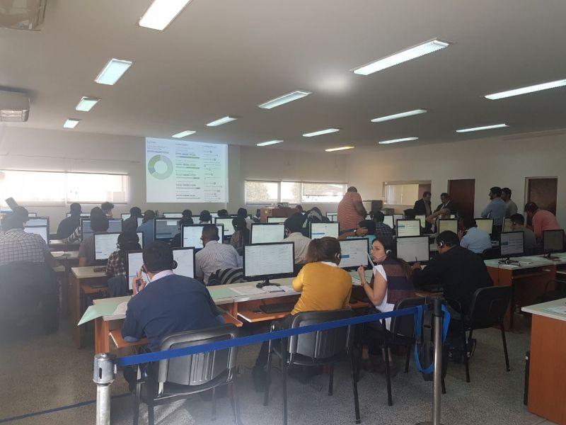 Centro de operaciones del Tribunal Electoral en Ciudad Judicial, donde desde las 22, se podrá tener la tendencia de los resultados provisorios.