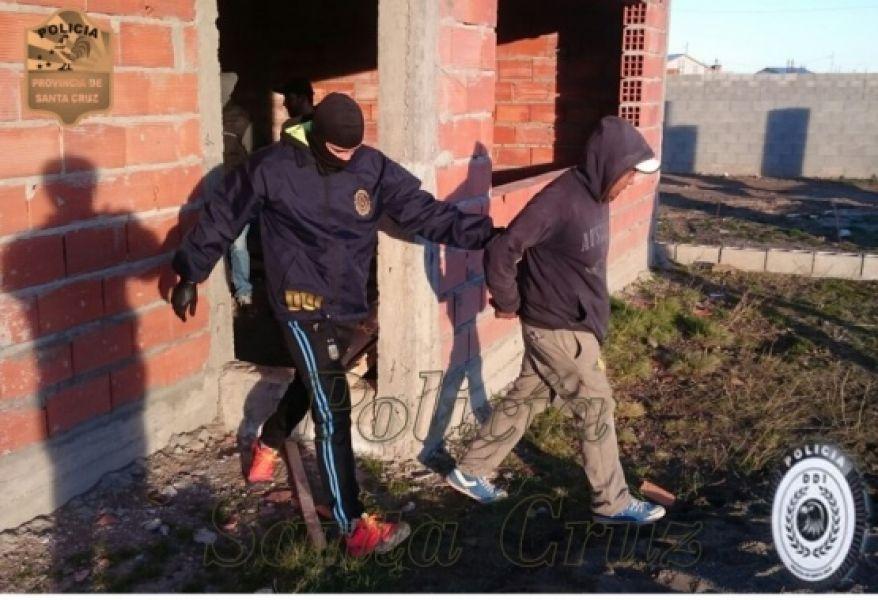 """El """"Chato"""" no opuso resistencia al momento de ser sorprendido en la localidad de Pico Truncado."""