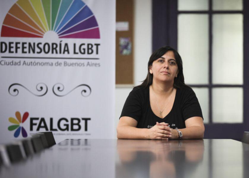 La disertante Flavia Massenzio, defensora LGBT CABA no pudo llegar a nuestra en la jornada de hoy martes 31 de octubre.