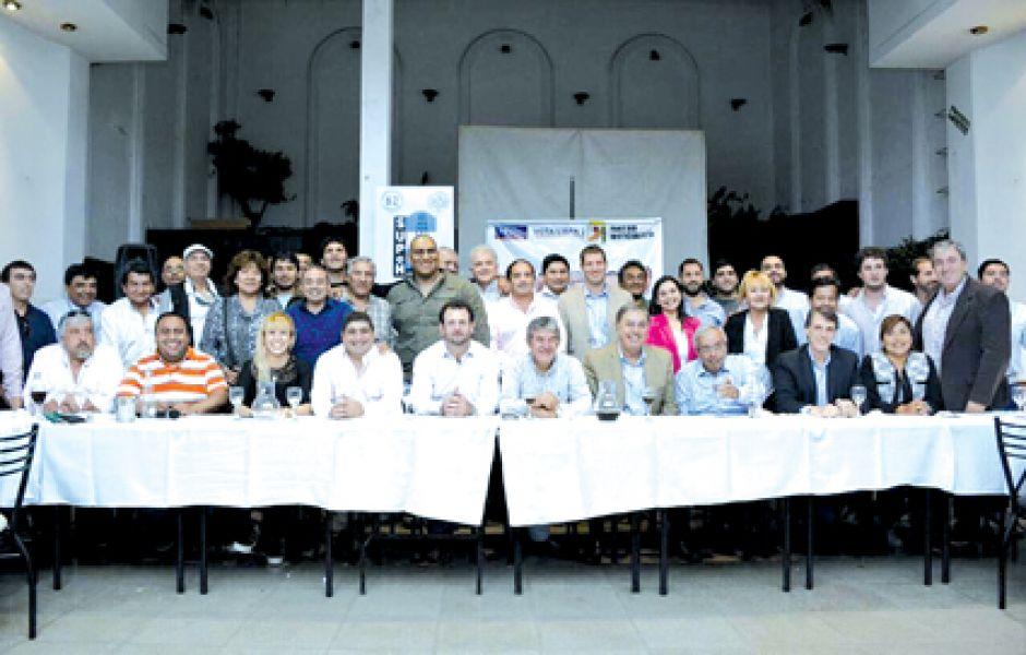 Reunión de referentes gremiales de la provincia.