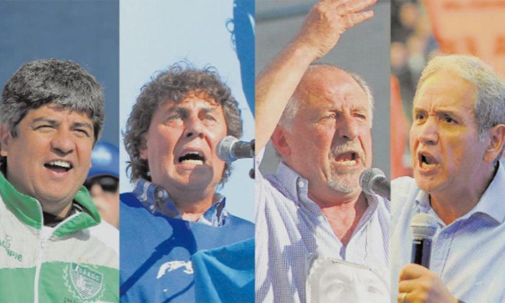 Los gremialista Pablo Moyano, Pablo Micheli, Hugo Yasky y Sergio Palazzo, convocaron a una movilización contra la reforma laboral.