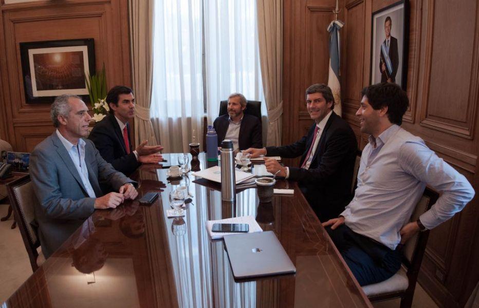 Reunión de  ayer entre Urtubey, Yarade y el Ministro Rogelio Frigerio por el pacto fiscal.