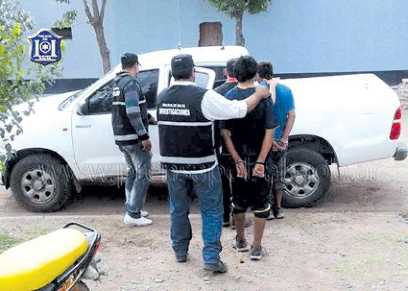 Los detenidos integraban una banda organizada dedicada al robo.