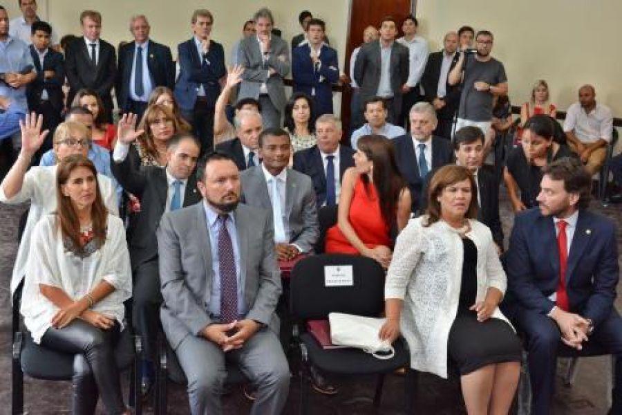 Los nuevos integrantes del cuerpo legislativo municipal de la Capital.