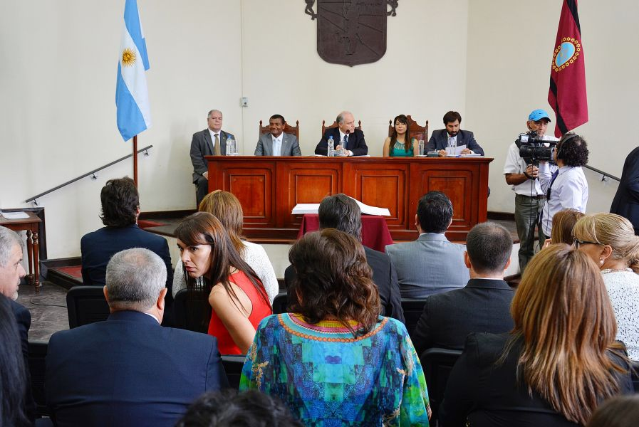 La nueva conducción del Concejo Deliberante Capitalino.