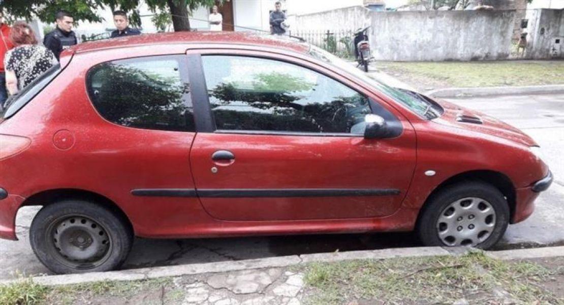 El automóvil que conducía el acusado.