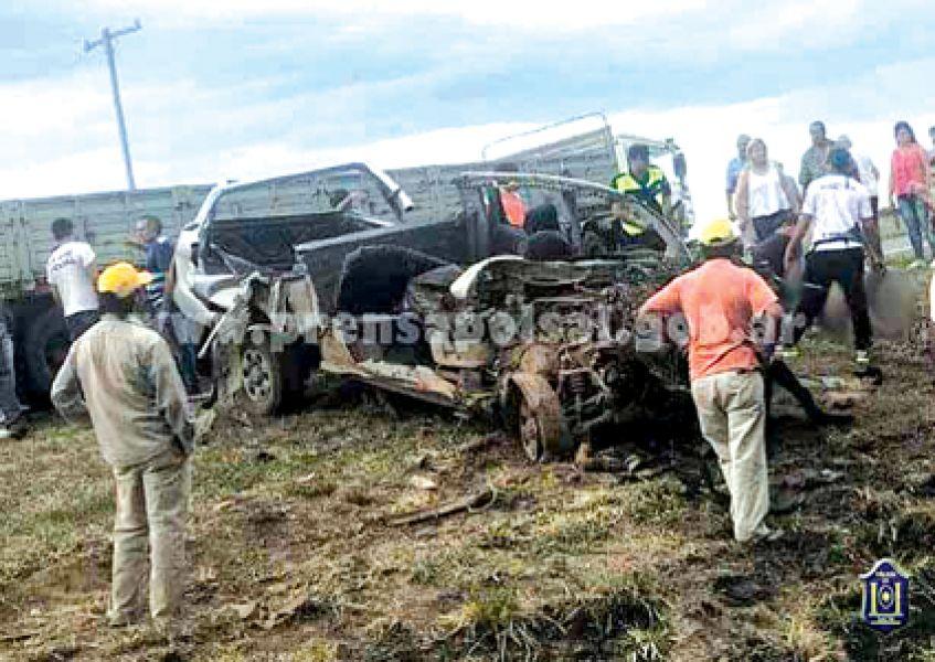 El femicida huyó en una camioneta por la ruta nacional 16, pero chocó a un camión y permanece hospitalizado.