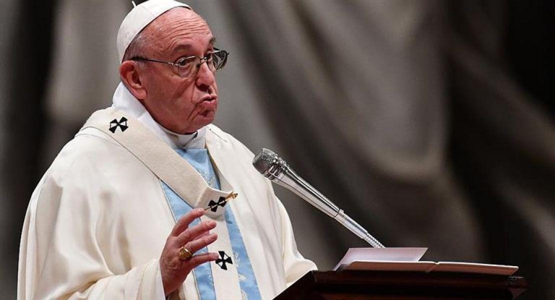 Francisco ofició ayer la primera misa del año en la Basílica de San Pedro.