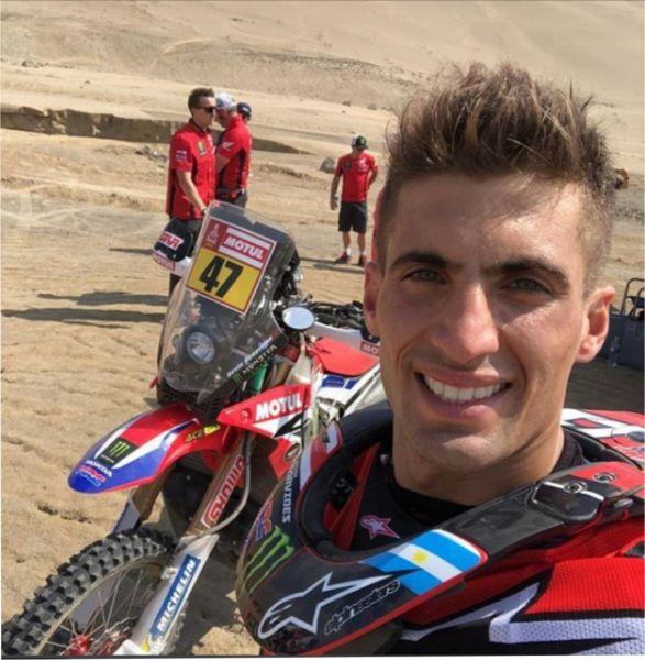 Kevin Benavides tomó contacto con su  Honda 450 y espera el inicio del rally Dakar que lo tiene como uno de los favoritos.