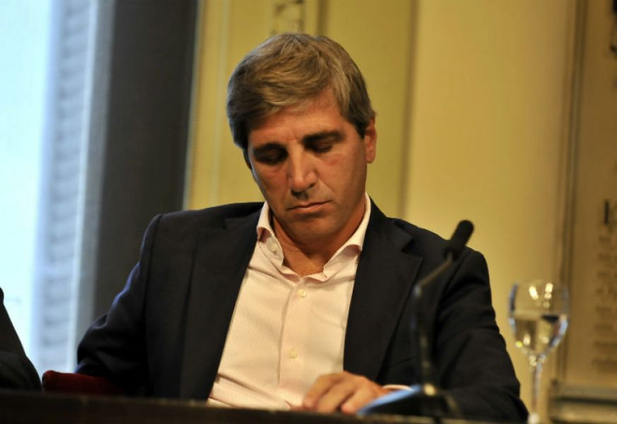 Luis Caputo, ministo de Finanzas de la Argentina