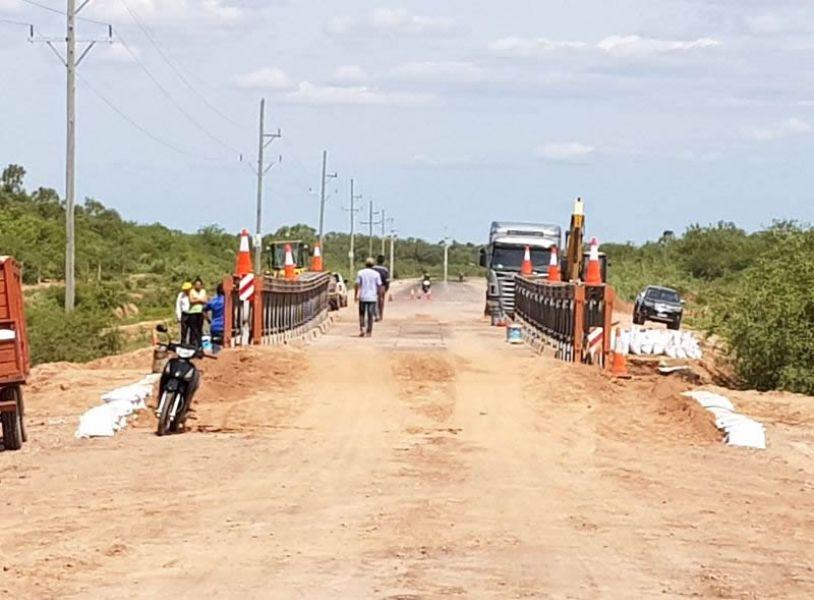 Ya se encuentra habilitado al tránsito el puente Bailey de la ruta provincial 13.