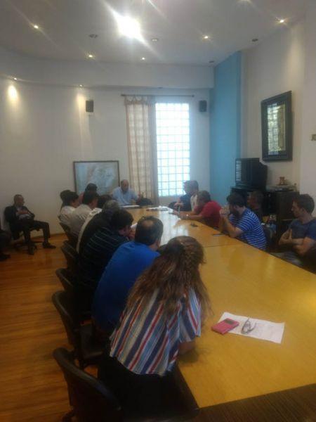 Clubes del Federal B reunidos con el vice del Consejo Federal, Julio Larrocca. Gentileza: Santi Dezio