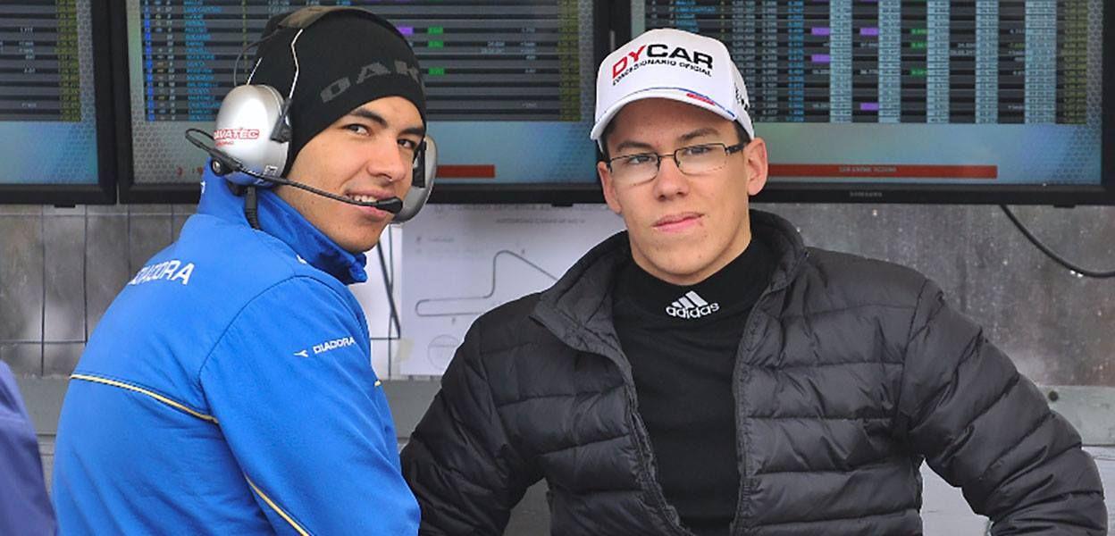 Gregorio Conta (der) junto a Facundo, su hermano y director deportivo.