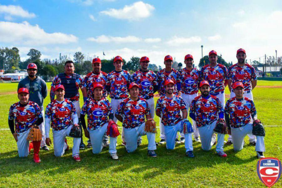 """Equipo de """"Camuflados"""", brillantes campeones Nacionales de Clubes."""