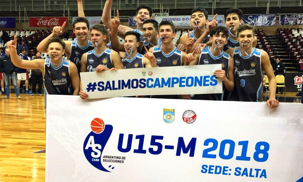 Buenos Aires festeja su nuevo título de campeón Argentino, categoría U-15.