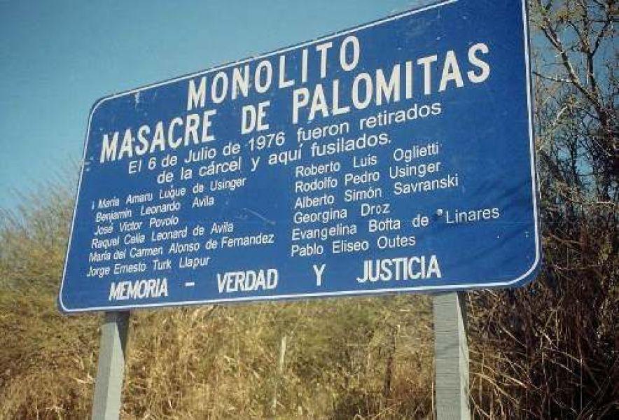 El acto principal será en el mismo lugar de la matanza, en el paraje Palomitas.