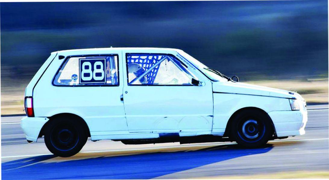 El Fiat Uno del líder del campeonato del TP 1400, Ignacio Bello.