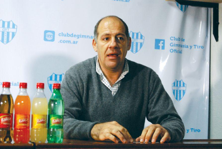 Marcelo Mentesana, presidente de Gimnasia y Tiro.