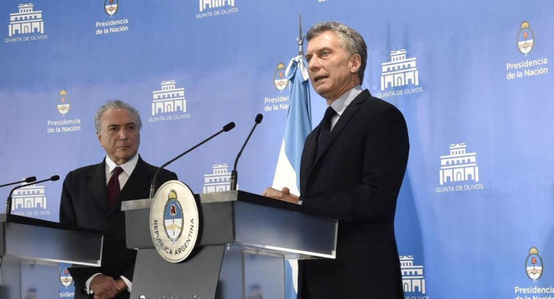 Ambos presidentes dieron una conferencia de prensa.