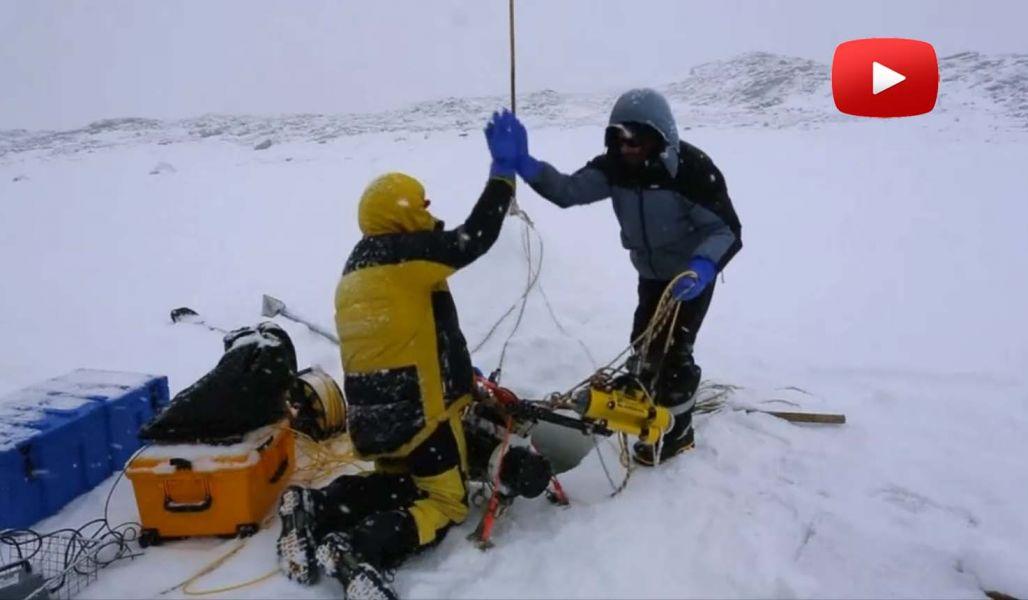 Científicos australianos enviaron un robot por debajo de una capa de hielo antártico