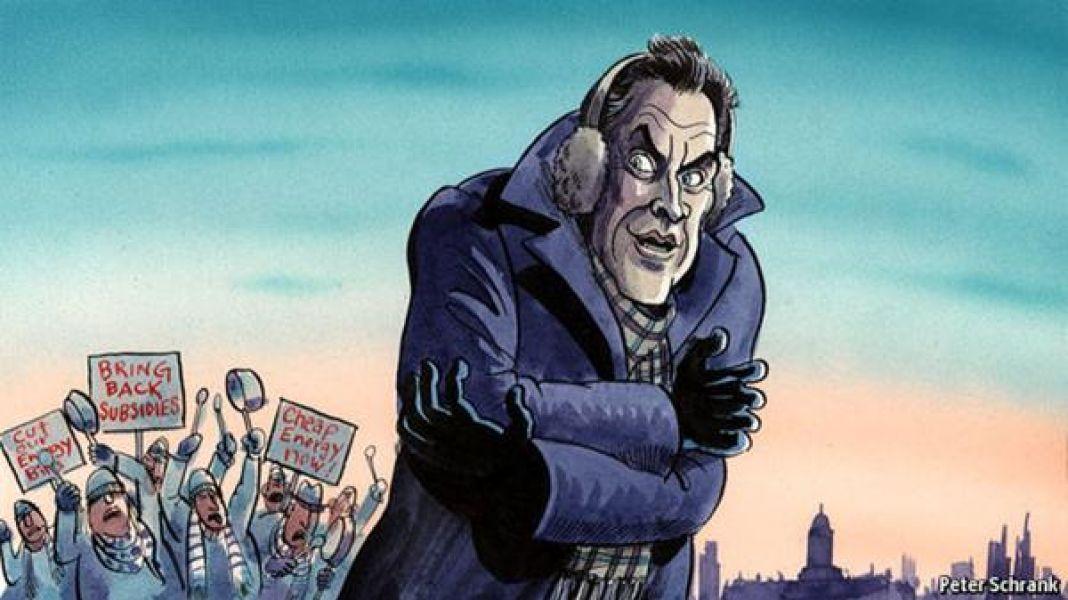 Macri caricaturizado por The Economist