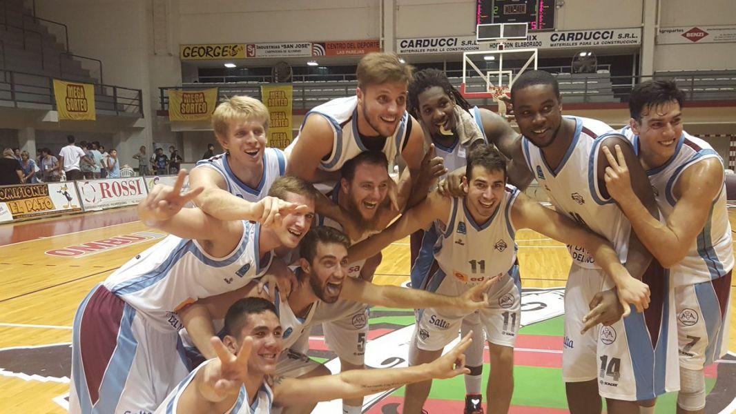 Salta Basket festeja tras ganarle a Las Parejas en Santa Fe