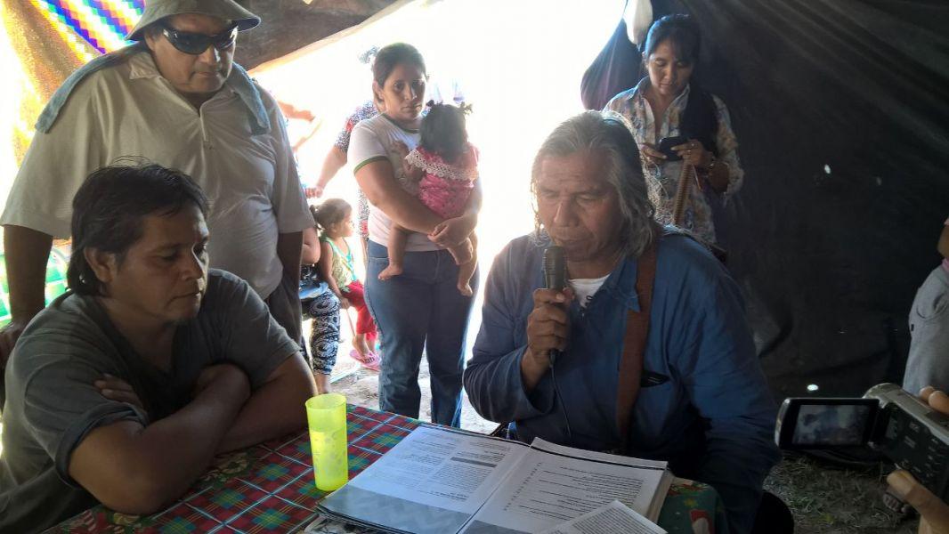 El dirigente Qom Felix Díaz acompañará a los guaraníes en su lucha por el territorios de la comunidad.