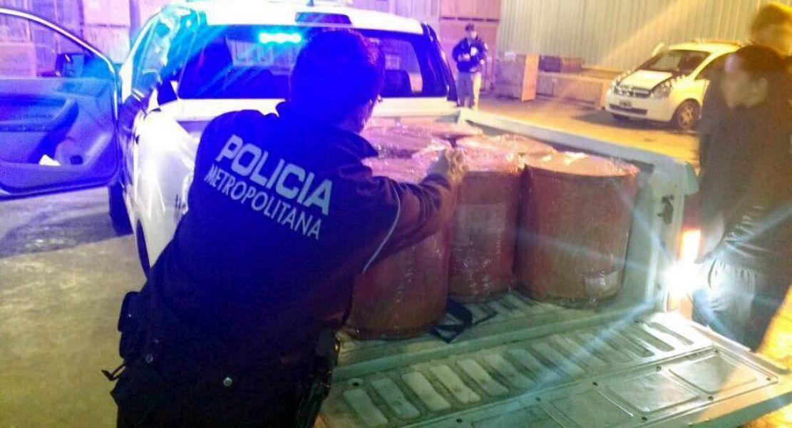 Según informó la Metropolitana, el cargamento de droga provenía de Suiza e iba a ser llevada a Paraguay.