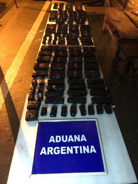 La droga iba a ser ingresada desde Bolivia por Aguas Blancas con destino Buenos Aires.
